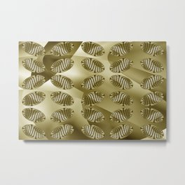 Patterned-beans-pattern 3 Metal Print