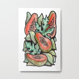 papaya party Metal Print