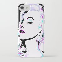 marilyn iPhone & iPod Cases featuring Marilyn by Saundra Myles