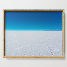 Salt Flats, Salar de Uyuni, Bolivia Serving Tray