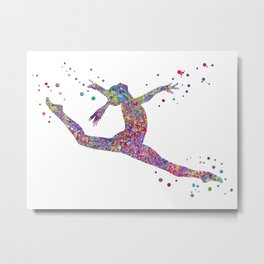 Gymnastics girl Metal Print