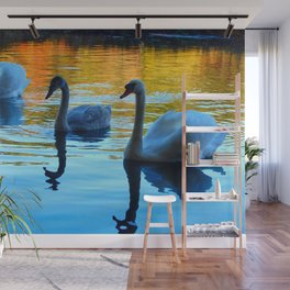 my three swans Wall Mural