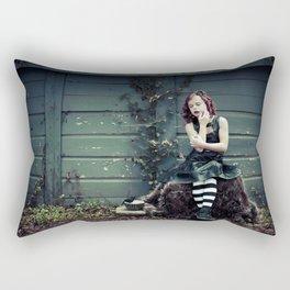 Little Miss Muffet Rectangular Pillow