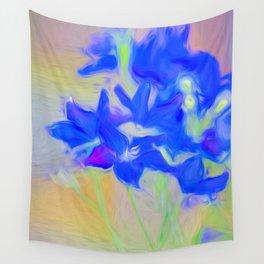 Blue Flower Bouquet Wall Tapestry
