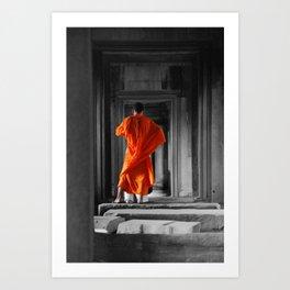 Saffron Portrait II Art Print