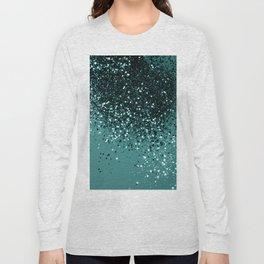 Teal Mermaid Ocean Glitter #3 #shiny #decor #art #society6 Long Sleeve T-shirt