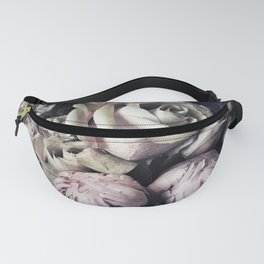 Roses peonies vintage style old masters flowers blooms Fanny Pack