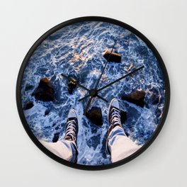 Feet on the cliff Wall Clock