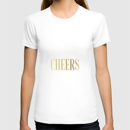 CHEERS BAR ART, Cheers Sign, Cheers Wall Art,Cheers Home Bar Decor,Alcohol Sign,Drink Sign,Typograp T-shirt