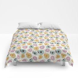 Donut Cat Comforters