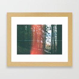glitch in the woods Framed Art Print