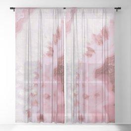 Millennial Pink Agate Sheer Curtain