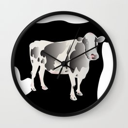 Country Cow Wall Clock