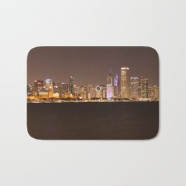 Night in Chicago Bath Mat