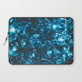 Sparkly blue water marbles Laptop Sleeve