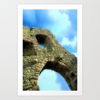 castle in the sky Art Prints featuring Castle by Brian Raggatt