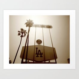 Los Angeles Dodgers  Art Print