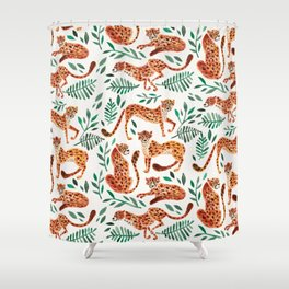 Cheetah Collection – Orange & Green Palette Shower Curtain