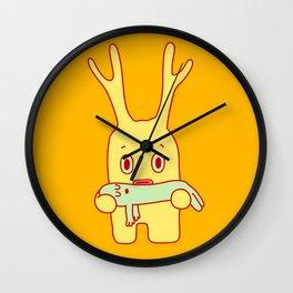 Deflated friend Wall Clock