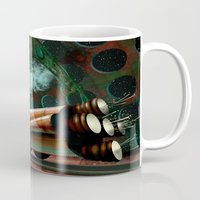 steam punk Mugs featuring Steam Train Punk by Goodson Productions
