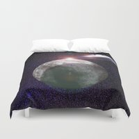 ufo Duvet Covers featuring UFO Planet by MaNia Creations