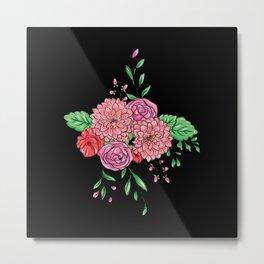 Beautiful color flower bouquet Metal Print