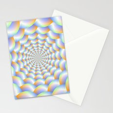 Spiral Tunnel in Blue Orange and Green Stationery Cards