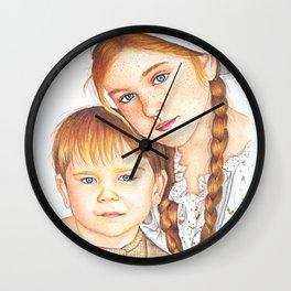 Siblings' love Wall Clock