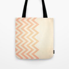 Orange Textured Chevron Tote Bag
