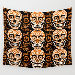 Halloween Calaveras Wall Tapestry