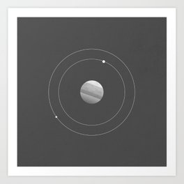 Two Moons of Mars Art Print