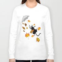umbrella Long Sleeve T-shirts featuring Umbrella  by Andrew Hitchen