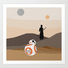 The Force is Here Art Print