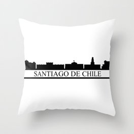 santiago de chile skyline Throw Pillow