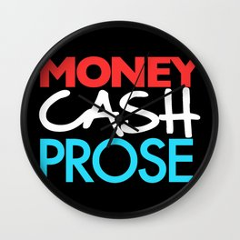 Money Cash Prose Wall Clock