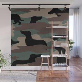 Camo Weiner Dogg Wall Mural