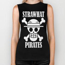 straw hat pirates Biker Tank