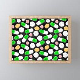 Deadly Pills Pattern Framed Mini Art Print