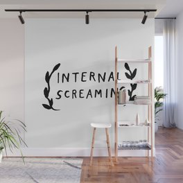Internal screaming Wall Mural