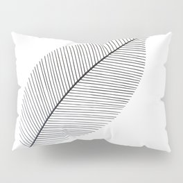 Leaf minimalism decor   black and white minimalism   Magnolia inspired designs Pillow Sham