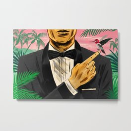 """Chasing James Bond's Hummingbird"" by Mike Reddy for Nautilus Metal Print"