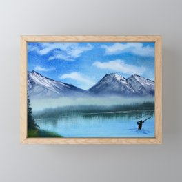 Fly Fish in the Mountains Framed Mini Art Print