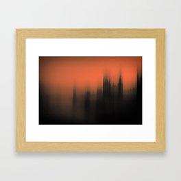 Blurred Parliament Framed Art Print