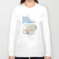 converse Long Sleeve T-shirts featuring Converse Shoes by Jessica Feral