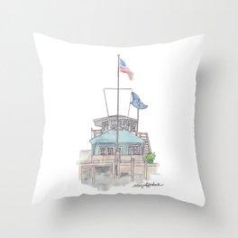 Essex Island Marina Throw Pillow