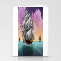 ships Stationery Cards featuring Rigged Ships by Yoly B. / Faythsrequiem