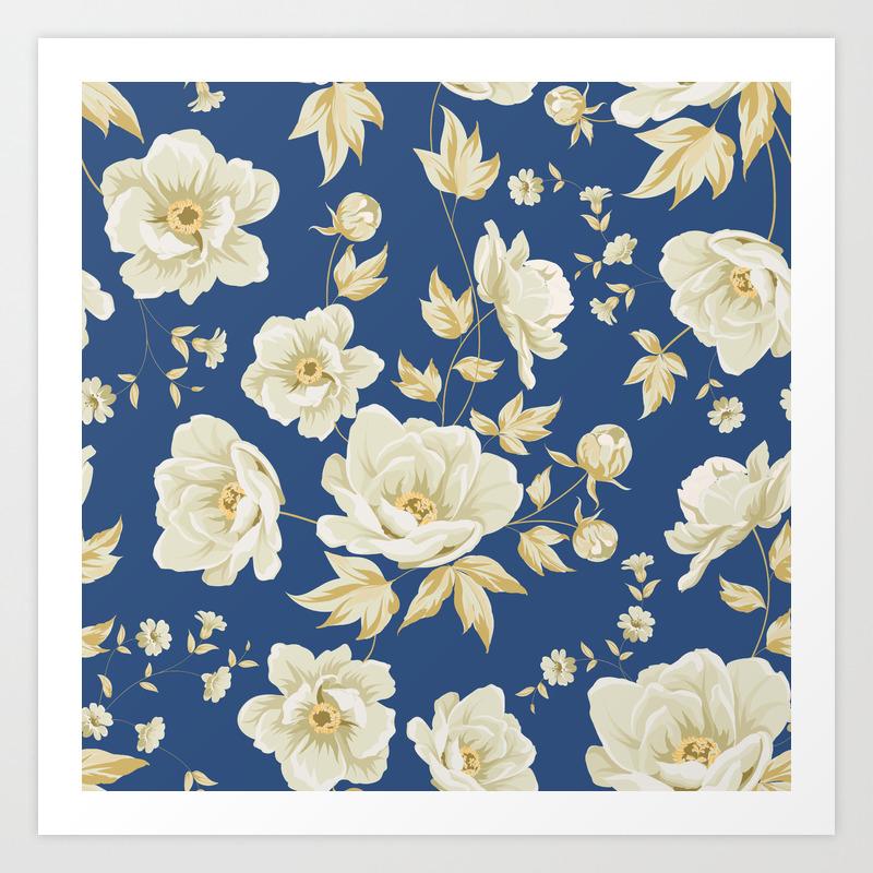 Design Of Vintage Floral Pattern Art Print By Kotkoa Society6