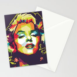 Marylin monroe in wpap pop art portrait Stationery Cards