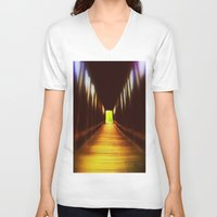 model V-neck T-shirts featuring Model  by AlleaJiapsi