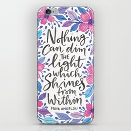 Maya Angelou Watercolour Quote iPhone Skin